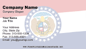 Flag of Missouri business card