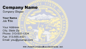 Nebraska Flag business card