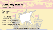 New Brunswick Flag business card