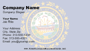 Flag of New Hampshire business card