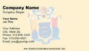 Flag of New Jersey business card