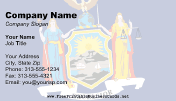 Flag of New York business card