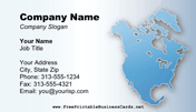 North America Business Card business card