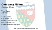 Flag of Northwest Territories business card