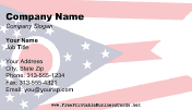 Flag of Ohio business card