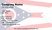 Ohio Flag business card