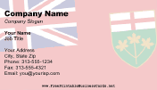 Flag of Ontario business card