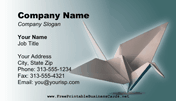 Origami Business Card business card