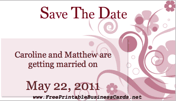 Pink Flourish Save the Date Card