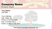 Prince Edward Island Flag business card