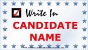 Special Election Sign business card