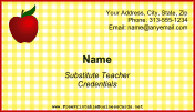 Substitute Teacher Business Card business card
