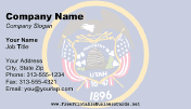 Flag of Utah business card