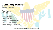 Flag of Virgin Islands business card