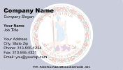 Flag of Virginia business card