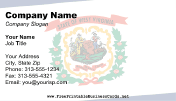Flag of West Virginia business card