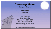 Wolf Howl Moon Business Card business card