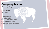 Flag of Wyoming business card