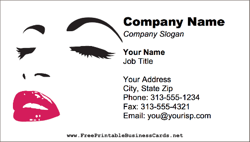 Salon makeup business card beauty salon makeup business card flashek Image collections