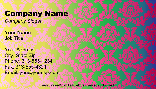 Bright Victorian Business Card