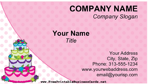 Cake business card flashek
