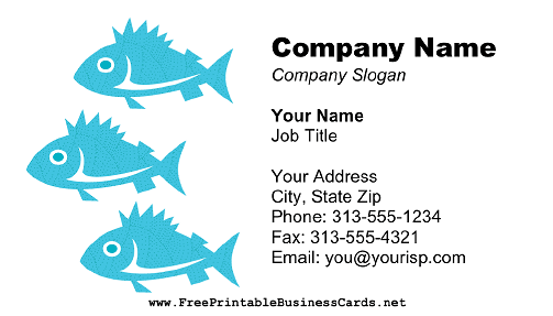 Fish business card colourmoves