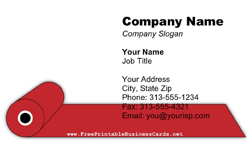 red carpet business card
