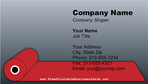 red carpet 2 business card