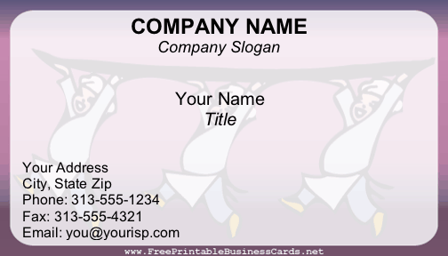 Catering business card for Catering business cards templates free download