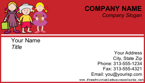 Child care business card reheart Gallery