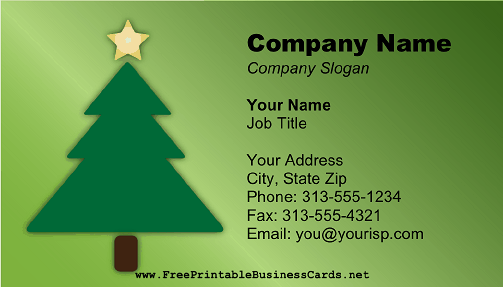 Christmas tree business card colourmoves