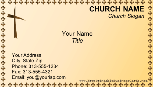 church business card - Pastor Business Cards