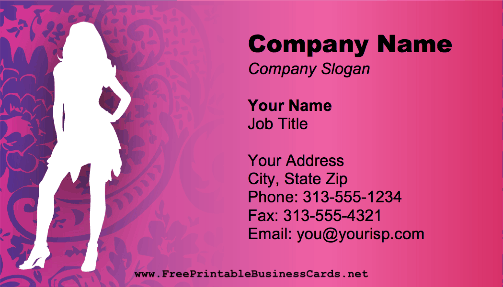 Fashion business card fbccfo