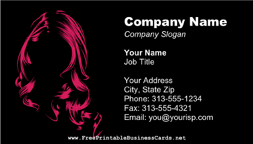 Hair salon business card wajeb