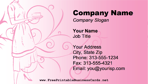 Retro Housekeeper Business Card