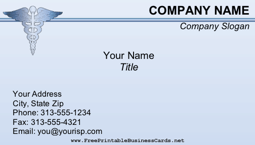 Medical business card flashek Choice Image