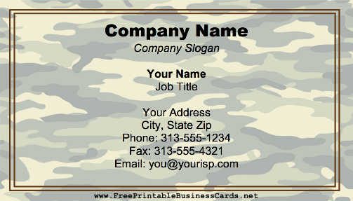 Military camouflage business card colourmoves