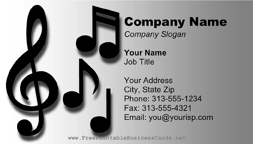 Business card templates music images card design and card template business card examples for musicians images card design and card free business card template musician images reheart Choice Image
