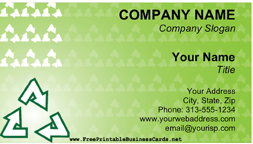 Recycling business card colourmoves