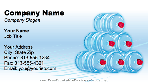 Bottles business card water bottles business card colourmoves Choice Image