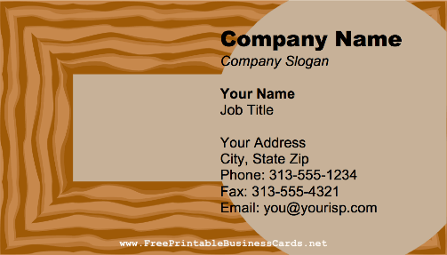 wood flooring business card - Flooring Business Cards
