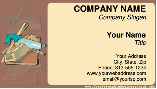 Construction business card reheart Image collections