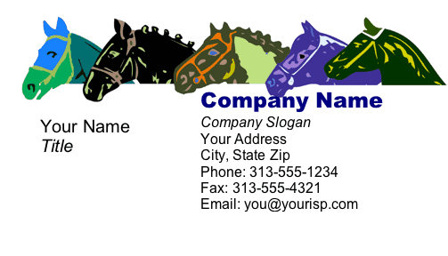Horses Business Card