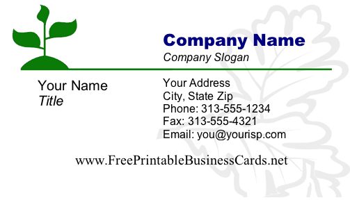Leaves 1 Business Card