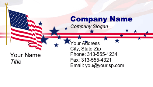 patriotic business card