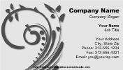 Free printable business cards free business cards gray floral swirl reheart Images